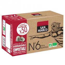 Capsules de café BIO N°6  Format familial