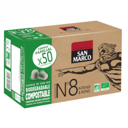 Capsules de café BIO N°8 - Format familial