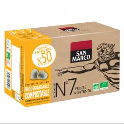 Capsules de café BIO N°7 - Format familial